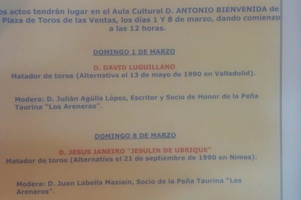 ENCUENTROS TAURINOS de la Peña Los Areneros.